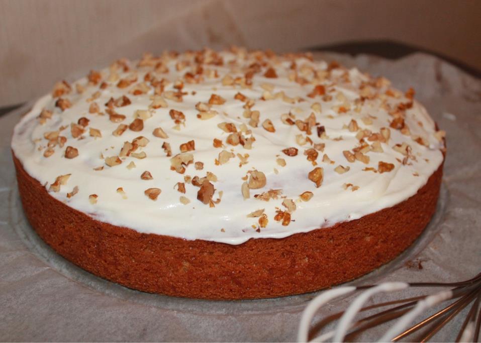 Creme Fraiche Carrot Cake Topping