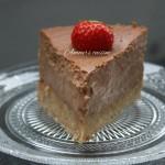 Chocolade cheesecake met aardbeien
