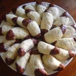 Kokosmaantjes met chocolade