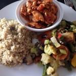 Gezonde quinoa met kip en groente