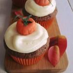 Pompoen cupcakes met roomkaasfrosting