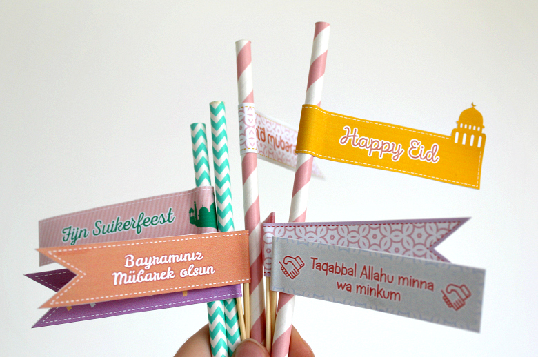 Freebie_Eid_Cupcake_Toppers_Straw_Flag