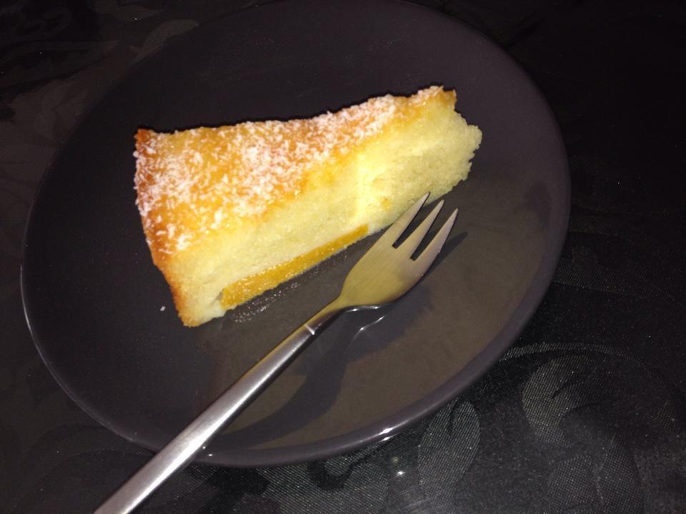 Perzikcake met yoghurt
