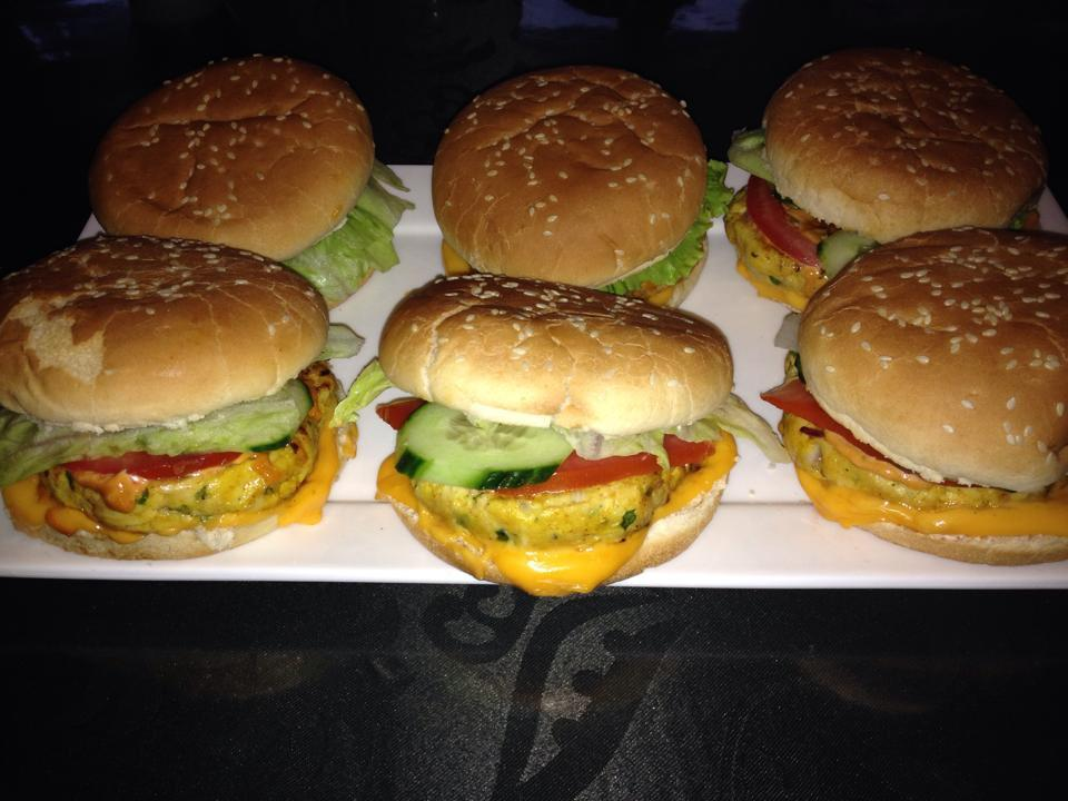 Huisgemaakte kipburgers
