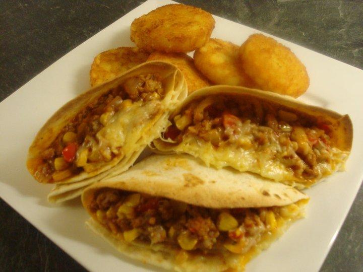Burritos met gehaktvulling