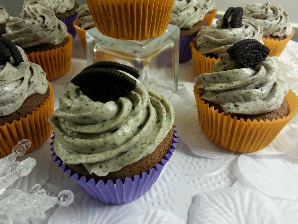 Oreo cupcakes met roomkaas frosting