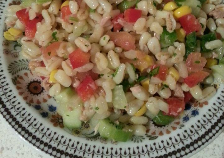 Tarly salade met tonijn en mais