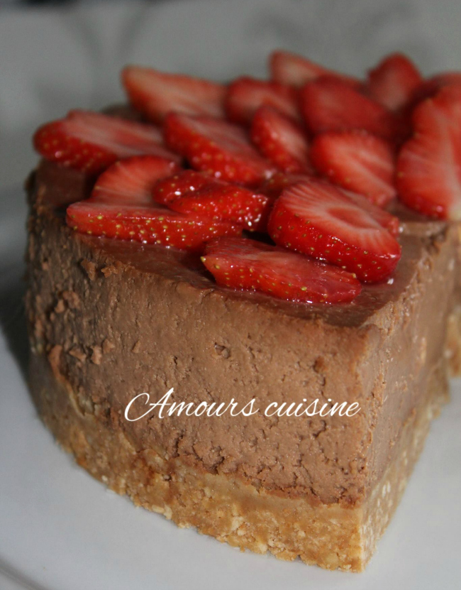 chocolade-cheesecake-aardbei