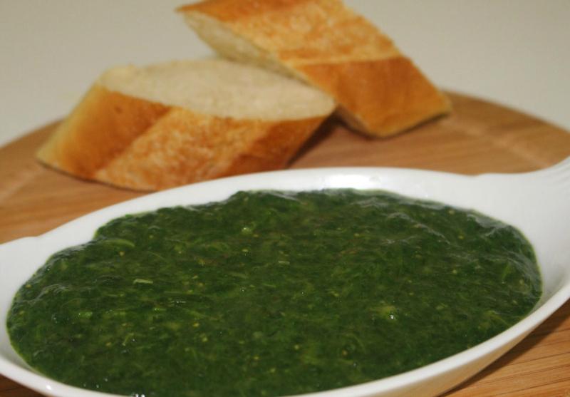 Gezonde spinazie dip
