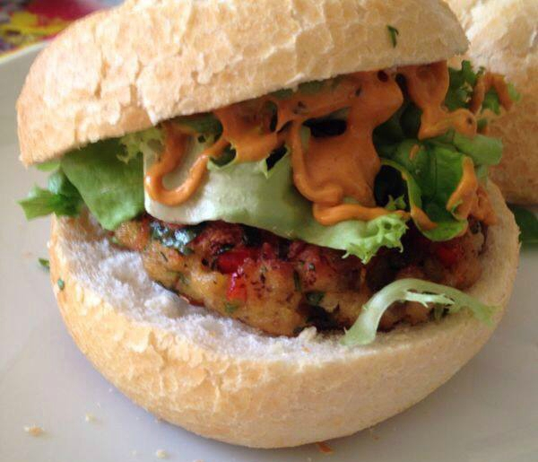 Vegetarische champignonburgers