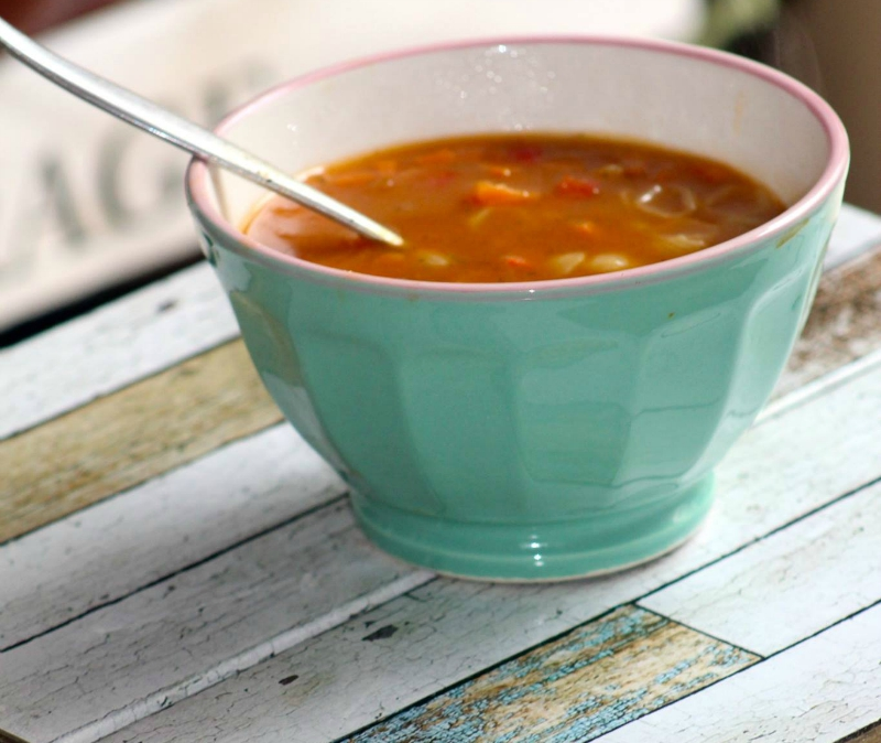 Conchigliette soep met kip