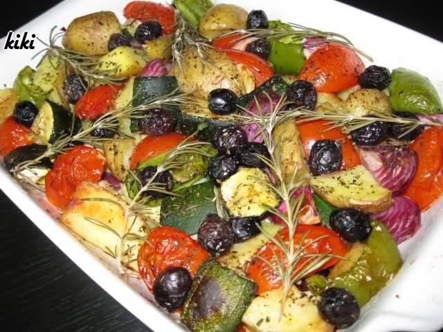 Italiaans gegrilde groenten uit de oven