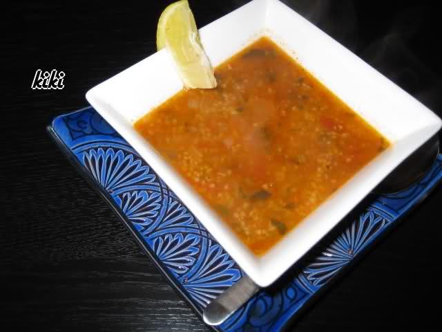 Tunesische soep met couscous