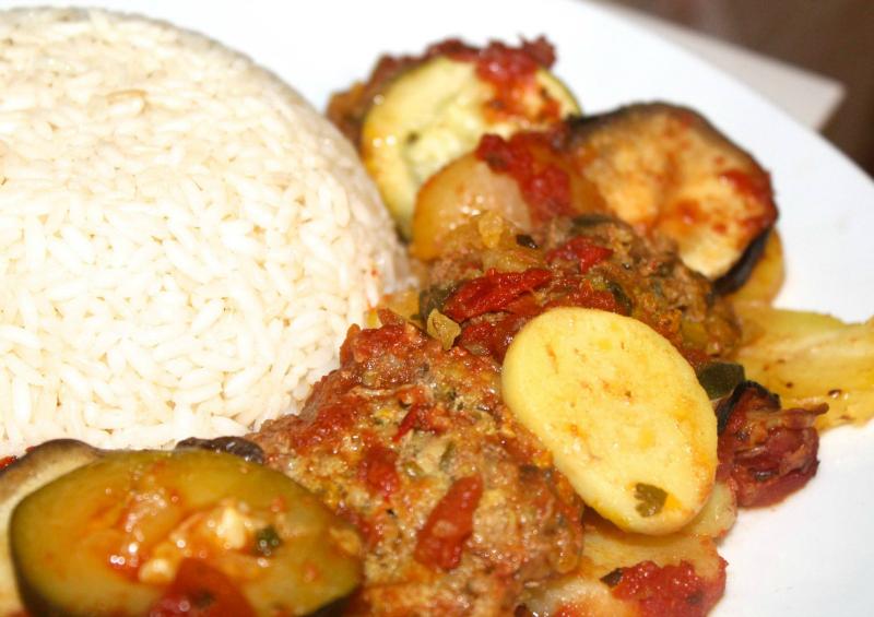 Turkse ovenschotel met rijst