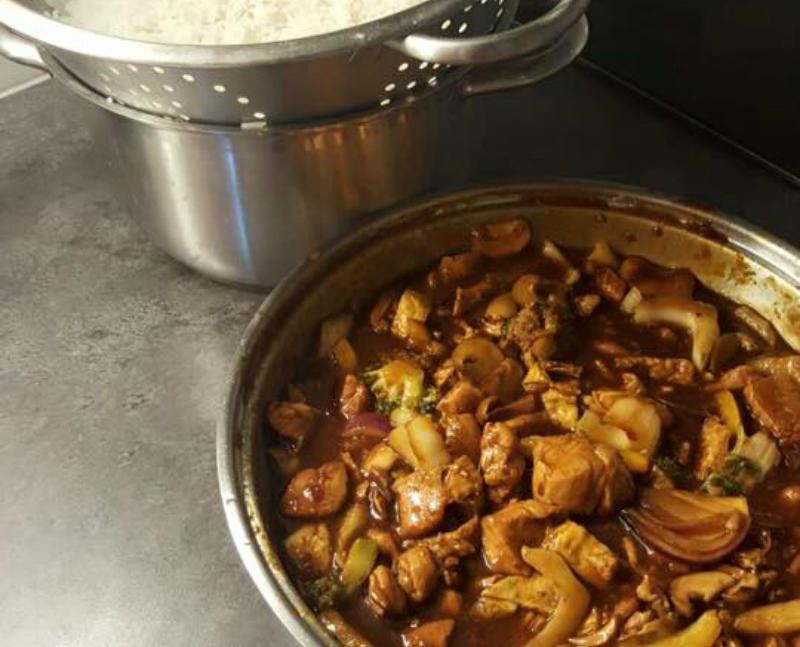 Aziatische wok met kip