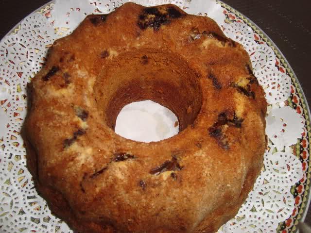 Cake met walnoten, dadels en Nescafé