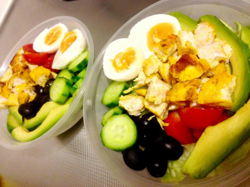 kip groente salade