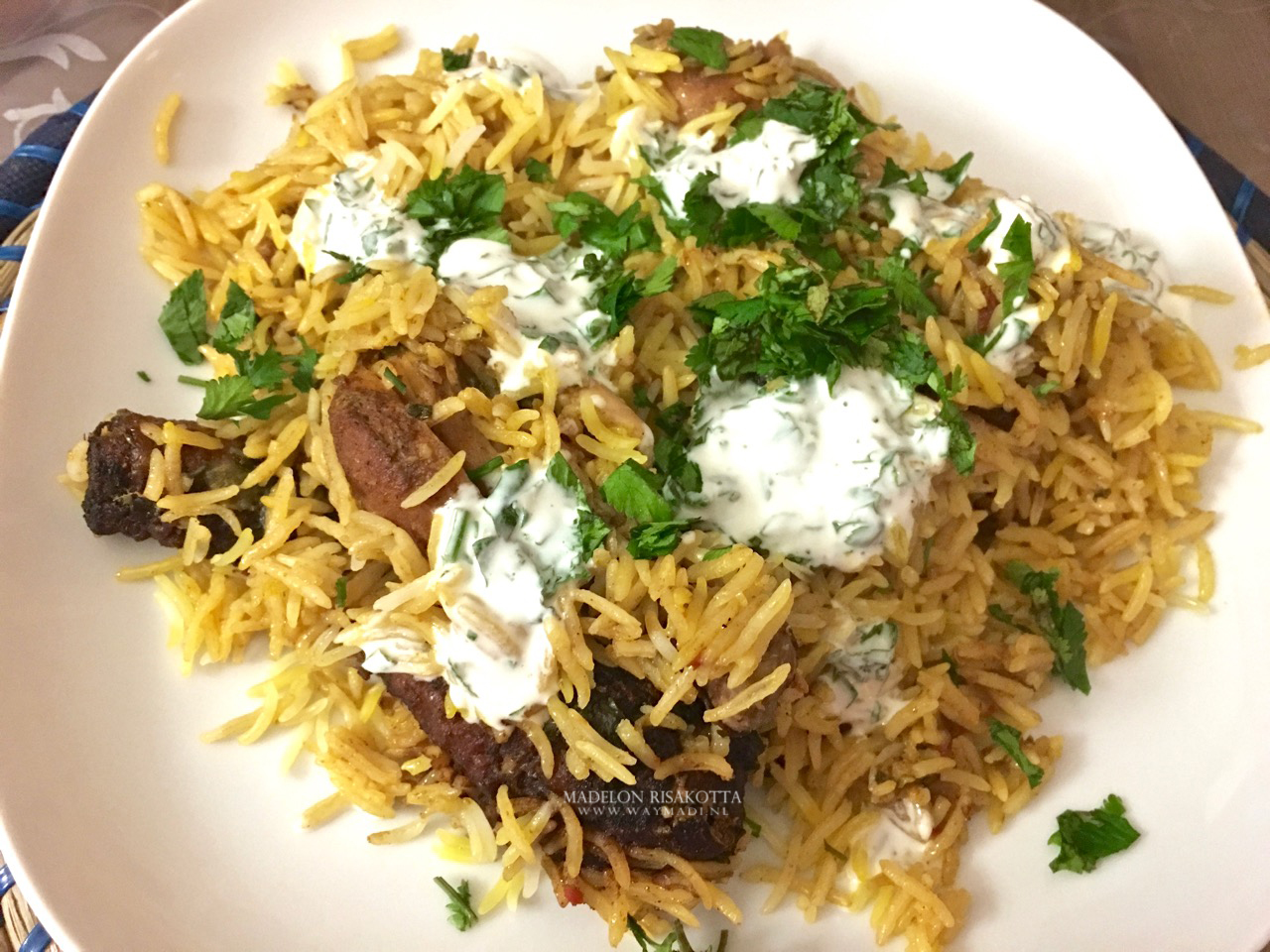 halal fried chicken biryani