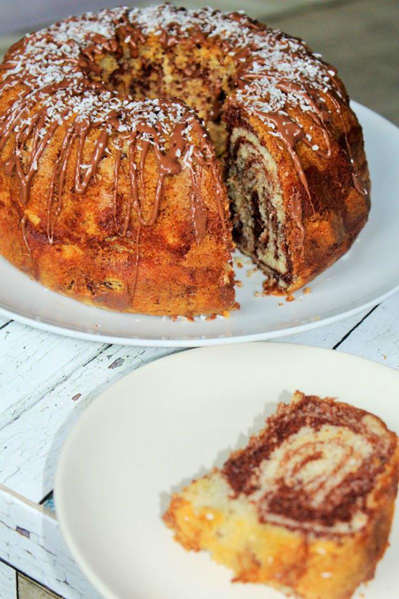 marmercake met zelfrijzend bakmeel