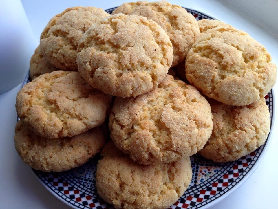 Mini harcha koekjes uit de oven