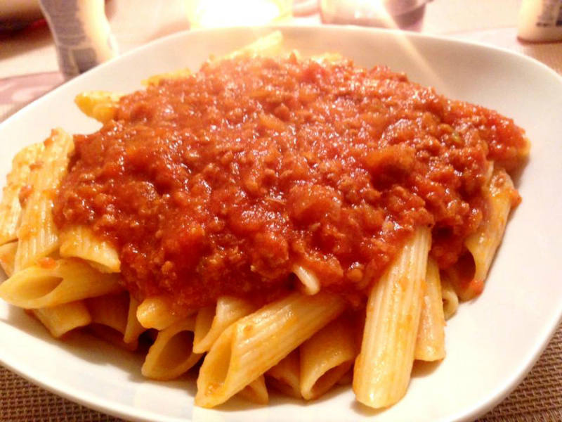 Pastasaus van verse tomaten