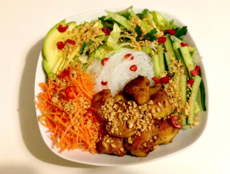 Vietnamese salade met kip