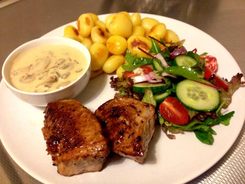 Kalfsvlees met champignonsaus