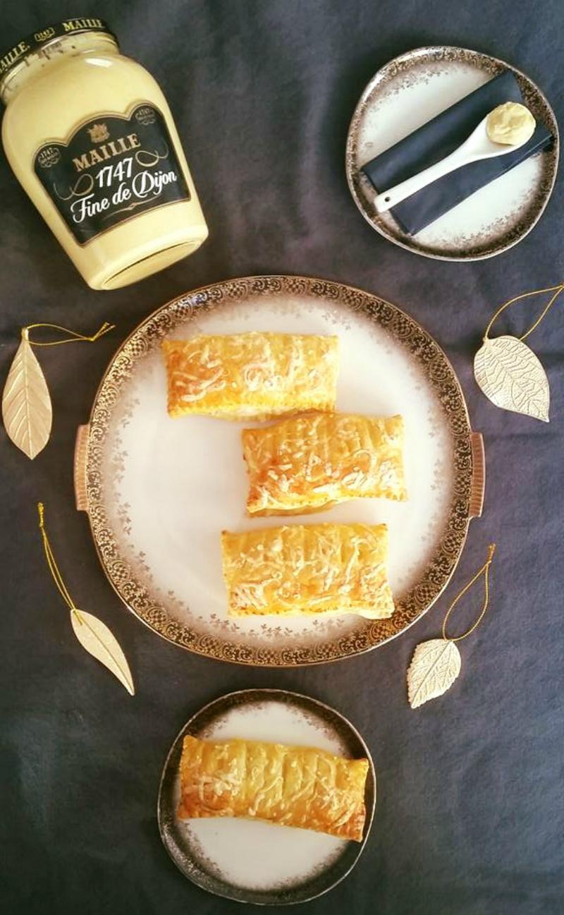 kaasbroodjes met ragout en mosterd
