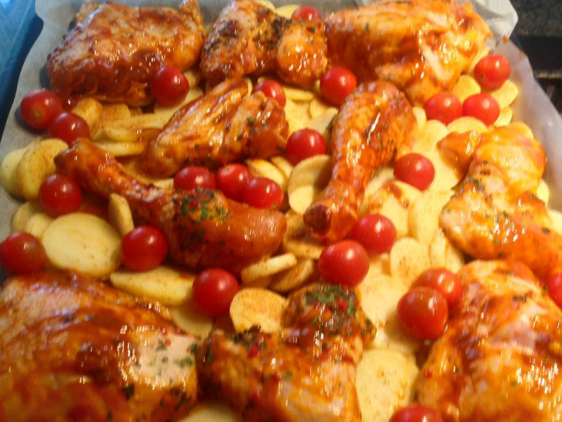 Kip ovenschotel met aardappel