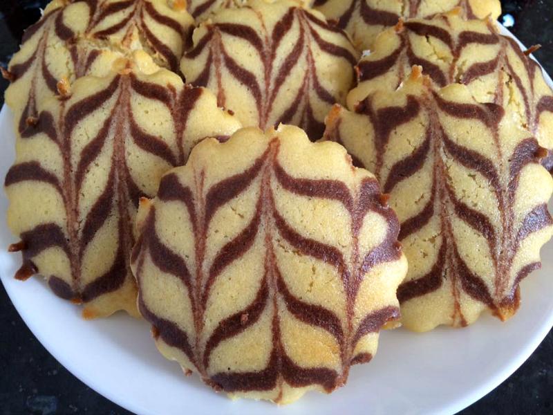 Zoete harcha met marmereffect (cacao)