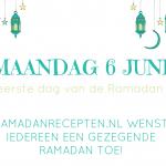 Ramadan begint op maandag 6 juni 2016