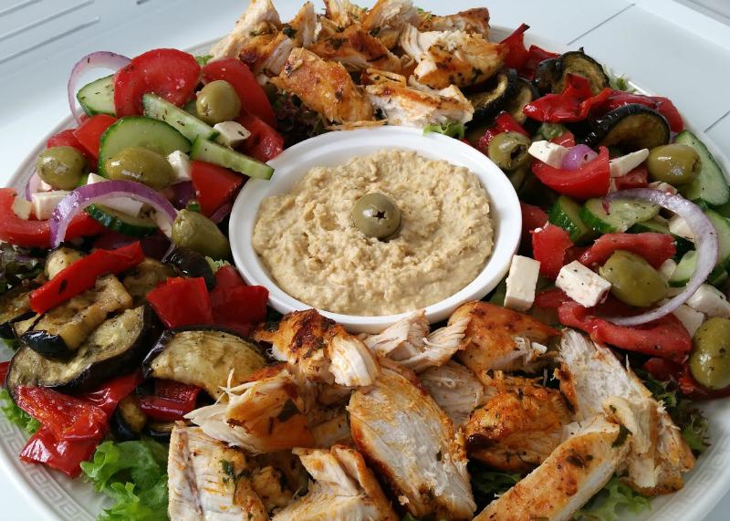 Griekse saladeschotel