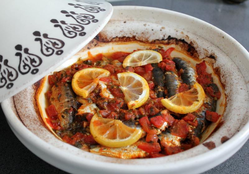 Tajine van sardines uit de oven