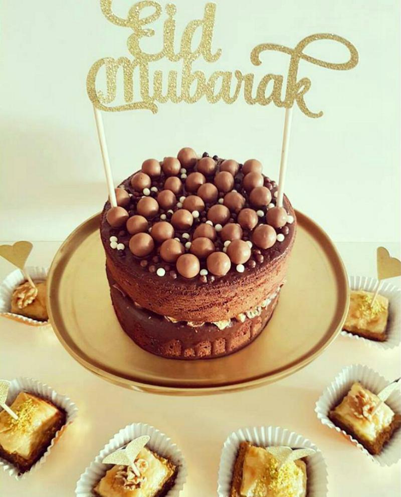 eid mubarak chocoladetaart maltesers