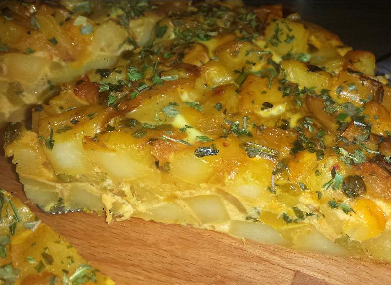 Aardappeltortilla met groenten
