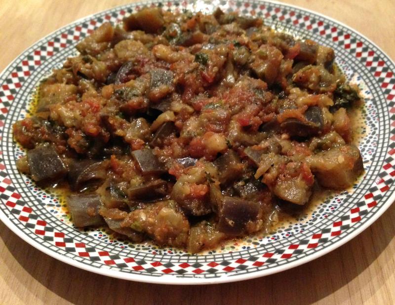 Zaalouk (Marokkaanse auberginesalade)