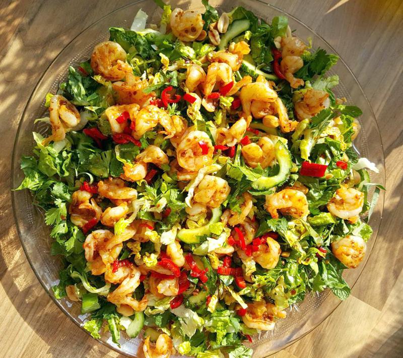aziatische-salade-garnalen-recept
