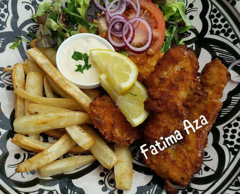 Koolhydraatarme Fish & Chips