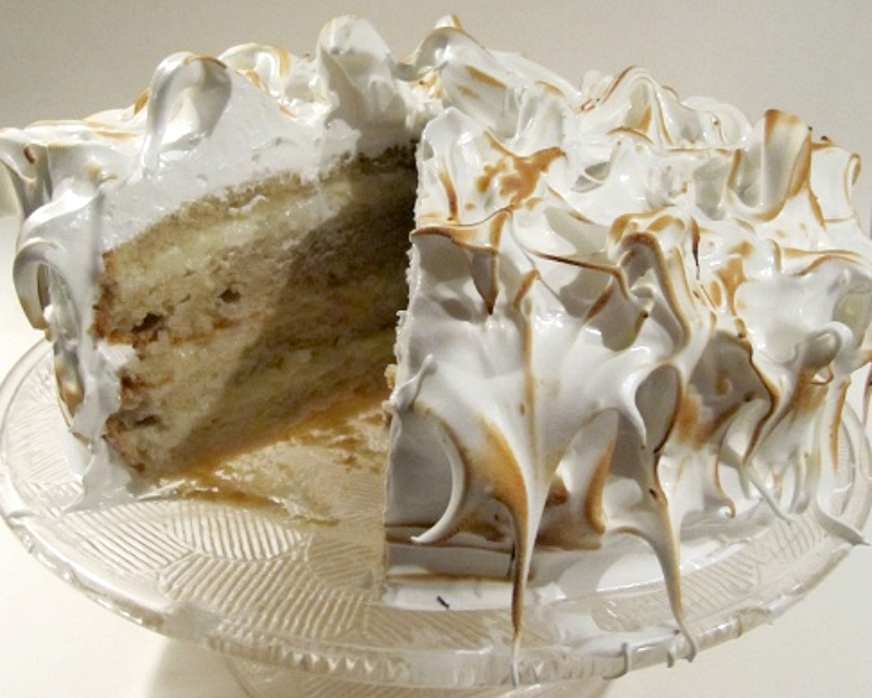 Kokos meringue taart