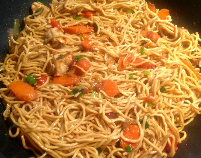 Snelle Chicken Chow Mein