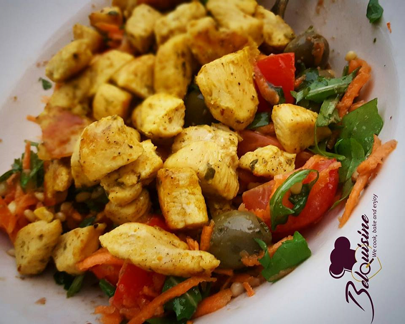 Rucola salade met gegrilde kip