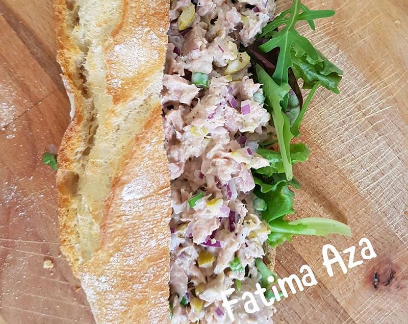 Stokbroodje tonijnsalade