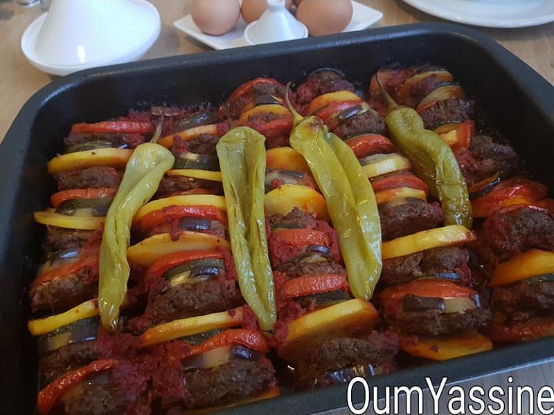 Turkse gehaktschotel met groente