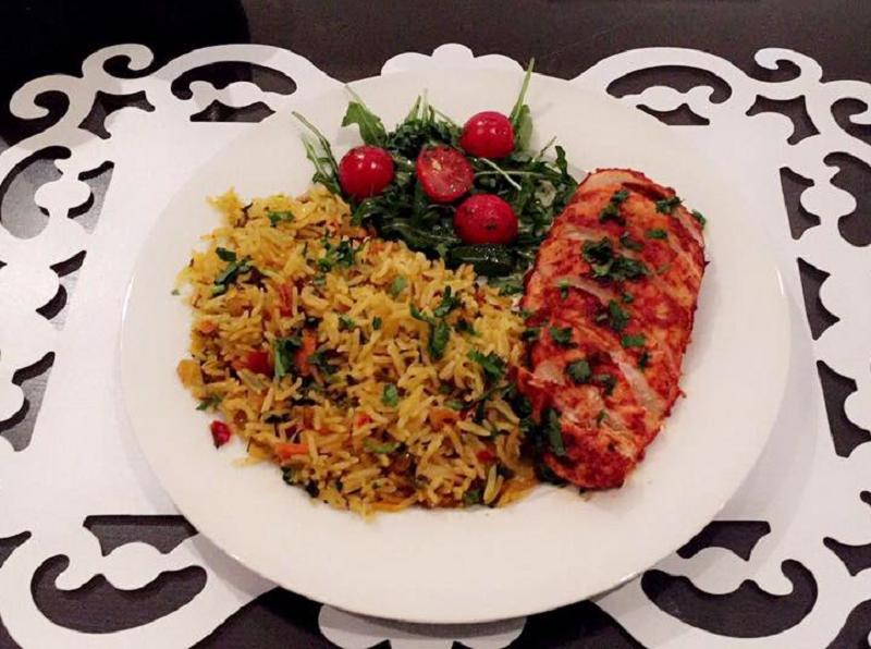 Makkelijke rijst met kip