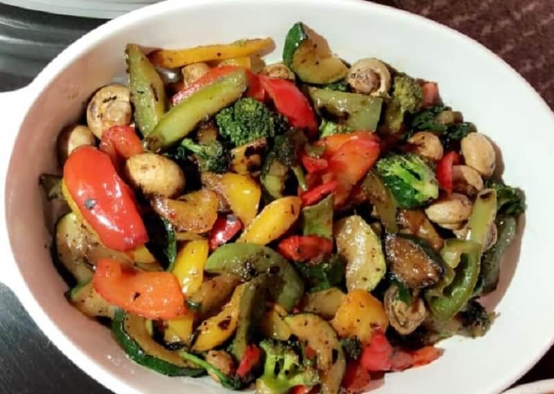 Privé: Gemengde gegrilde groenten