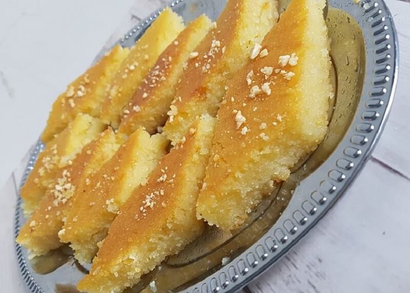De lekkerste amandel-basbousa