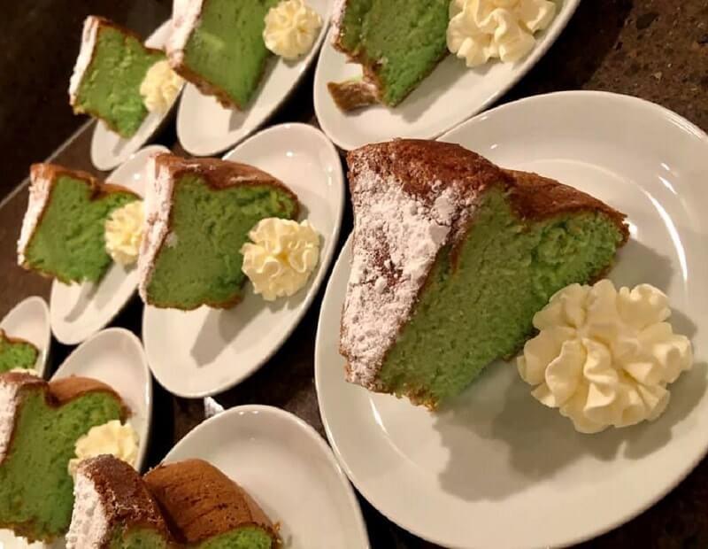 Pandan Sponge Cake (Indische sponscake)