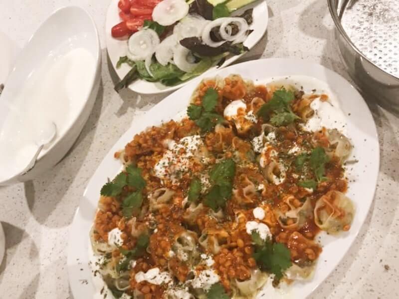 Afghaanse mantu (gehakt dumplings)