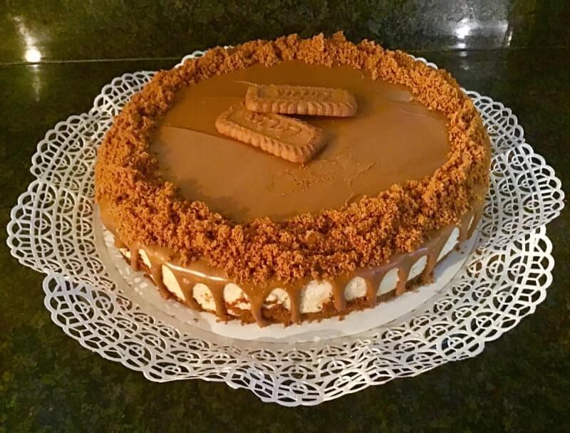 No-bake Lotus speculoos cheesecake