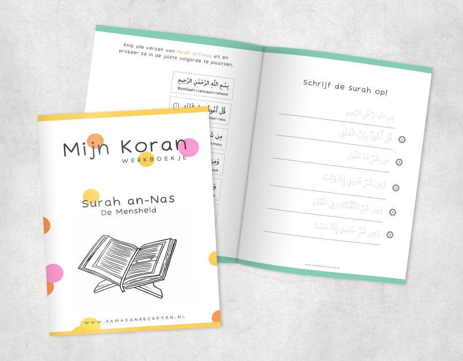 2x werkboekjes: Al-Falaq & An-Nas (Al-Mu'awwidhatayn)